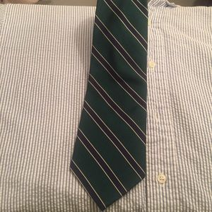 Park avenue by Mayer's green stripped tie.